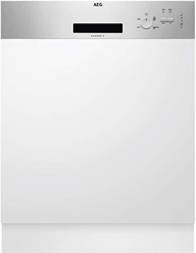 AEG FEB31600ZM Teilintegrierbarer Einbaugeschirrspüler AiorDry LED Aqua Control A+ 60 cm
