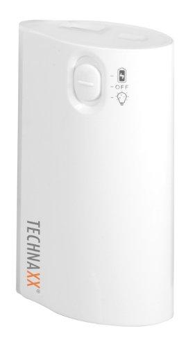 Technaxx TX-15 W TX-15 LED Power Bank Akku (4400mAh) mit Taschenlampe weiß