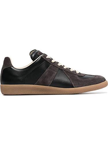 Maison Margiela Luxury Fashion Uomo S57WS0236P1895900 Nero Pelle Sneakers   Stagione Permanente