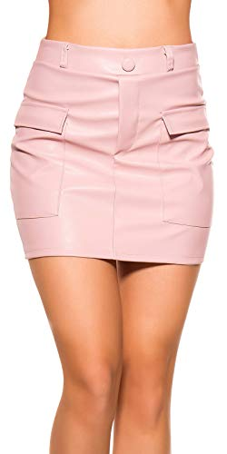 Koucla Minirok lederlook rok met zakken