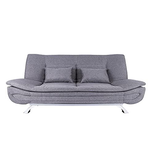 Tianbi Sofá cama de tela moderna, sofá reclinable, función de reposabrazos plegable ajustable y patas de madera para sala de estar, habitación de huéspedes/oficina