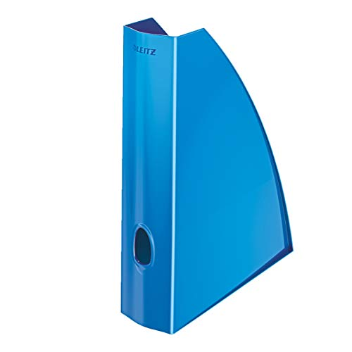 Leitz 52771036 WOW Stehsammler, A4, Polystyren, blau metallic