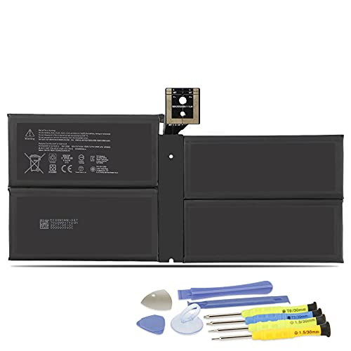 K KYUER 45Wh G3HTA038H Tablet Batteria per Microsoft Surface Pro 5 Model 1796 Surface Pro 6 Model 1807 1809 Series 2-in-1 Detachable Tablet Computer DYNM02 7.57V Notebook Replacement Laptop Battery