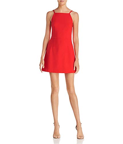 French Connection Women's Whisper Light Sleeveless Strappy Stretch Mini Dress, Royal Scarlett, 6