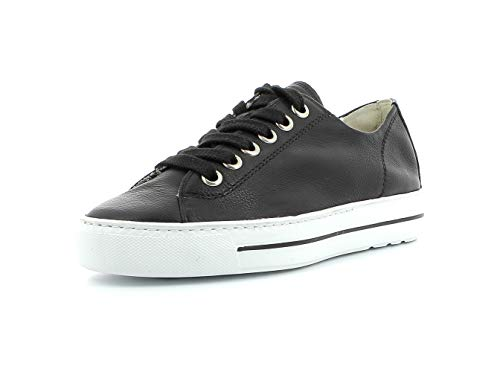 Paul Green Damen Sneaker 4704, Frauen Low-Top Sneaker, Halbschuh strassenschuh schnürer schnürschuh sportschuh Plateau-Sohle,Black,38 EU / 5 UK