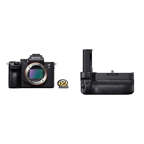 Sony a7 III Full-Frame Mirrorless Interchangeable-Lens Camera Optical with 3-Inch LCD, Black (ILCE7M3/B) with Vertical Grip for α9
