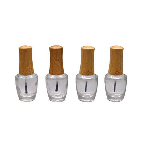 4 Stück 15 ml (1/2 oz) klar leere Nagellack-Flaschen, Nagelzubehör, Kosmetik, Fingerfarbe,...