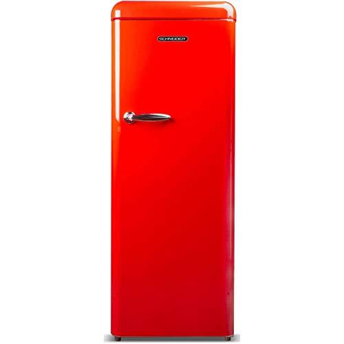 Schneider SCL222VR - Frigorífico (1 puerta), color rojo
