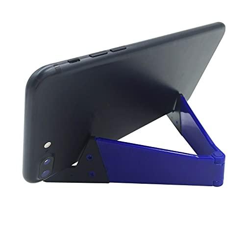 FSFA Support De TéLéPhone Portable en Forme De V pour Regarder des Vidéos Supports De Bureau à Domicile Tablette Réglable Support De TéLéPhone Portable Support De Bureau Pliable (Blue, One Size)