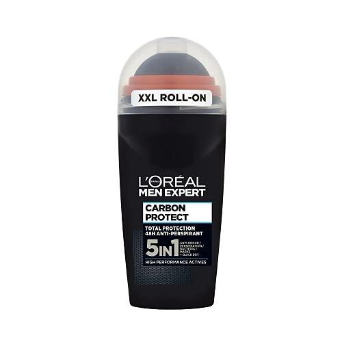 L'Oreal Paris Men Expert Carbon Protect 48H Anti-Perspirant Roll-On Deodorant, 50ml