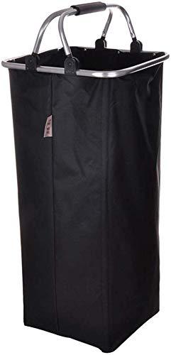 ZHFZD waterdichte wasmand met grote inhoud, bewaarmand voor vuile kleding, grote aluminium buis met zwarte handgreep van Oxford-stof ZHFZD
