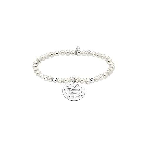 Lotus Silver - Pulsera Plata y Perlas Te Quiero Abuela