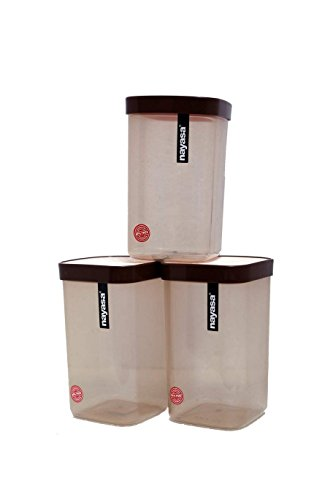 Nayasa Superplast Plastic Fusion Containers 1500ml, Set of 6, Brown