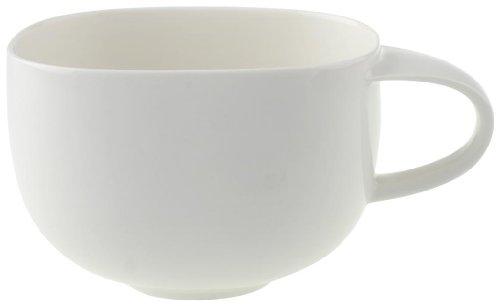 Villeroy & Boch Urban Nature Café au Lait-Tasse, 450 ml, Höhe: 7,8 cm, Premium Porzellan, Weiß