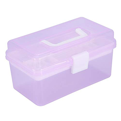 Nail Art Storage Box, Multifonctionnel Vide Nail Art Manucure Maquillage Cosmétique Outils Conteneur, Boîte De Rangement 3Types, Maquillage boîte à outils(S)