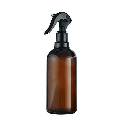 WBFN 1 stuks 500ml grote lege Amber glazen flessen met opslag Cap Black Trigger Mist Spray Flow for etherische olie reinigingsproduct (Color : 1pc, Material : Plastic)