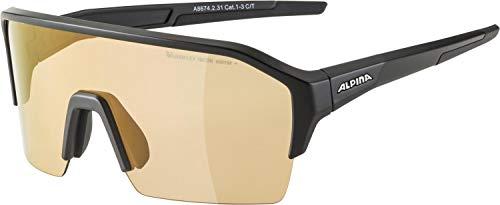 ALPINA Unisex- Erwachsene, RAM HR Q-LITE V Sportbrille, black matt, One Size