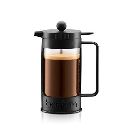Bodum - 11375-01- Bean - Cafetière à Piston avec 3 Tasses - 0,35 L - Noir
