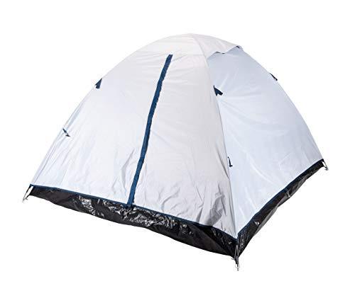 Spetebo Iglu tent 2 personen in zilver grijs - 200x190x120 cm - Cool Fresh Dark Black - koepeltent camping tent