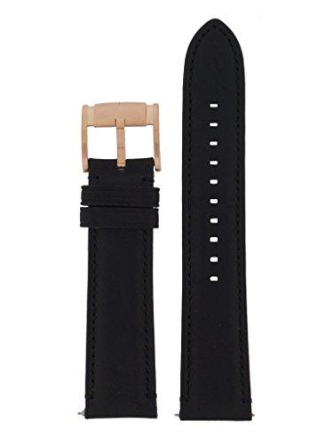 Fossil Uhrband Wechselarmband LB-FS5085 Original Ersatzband FS 5085 Uhrenarmband Leder 22 mm Schwarz