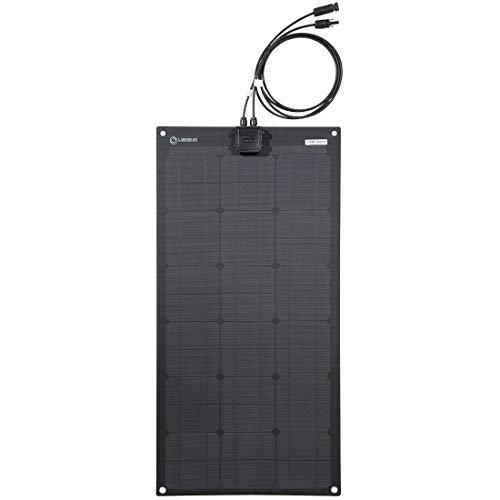 LENSUN ETFE 55 W 12 V schwarzes flexibles Solarpanel, ultradünn, ultraleicht, Perc Mono Solarzellen, für Camper, RVs, Boote, Camping, Zelt