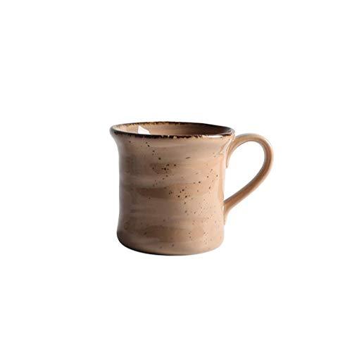 L.BAN Taza Retro Taza nostálgica Estilo japonés literario Taza de Avena de gres Antiguo Taza de Desayuno Taza de Agua de cerámica Taza de café (Color: Marrón)