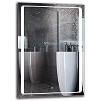 Espejo LED Deluxe - Dimensiones del Espejo 70x100 cm - Interruptor tactil - Espejo de baño con iluminación LED - Espejo de Pared - Espejo con iluminación - ARTTOR M1ZD-49-70x100 - Blanco frío 6500K
