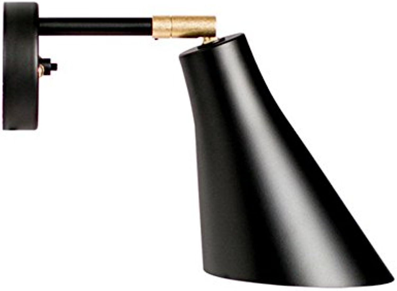 Amadoierly Nordische Wandleuchte Mode Persnlichkeit E27 Einfache Lampe Wand Lampe Wohnzimmer Schlafzimmer, Schwarz