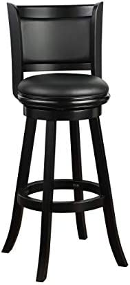 Boraam Augusta Extra Tall Swivel Bar Stool 34 Inch Black product image