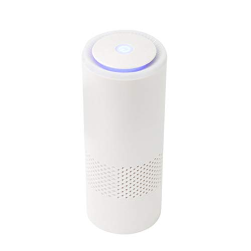 Mini filtro de aire purificador de aire para auto de viaje de oficina en casa con filtro HEPA verdadero y filtro de carbón activo ionizador de para eliminar el polvo el polen el humo el cable USB