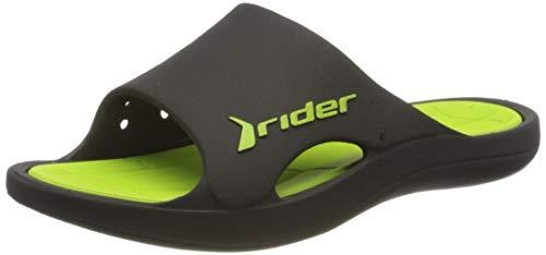 Rider Bay IX Ad, Zuecos Hombre, Multicolor Negro y Verde 8338 0, 43 EU