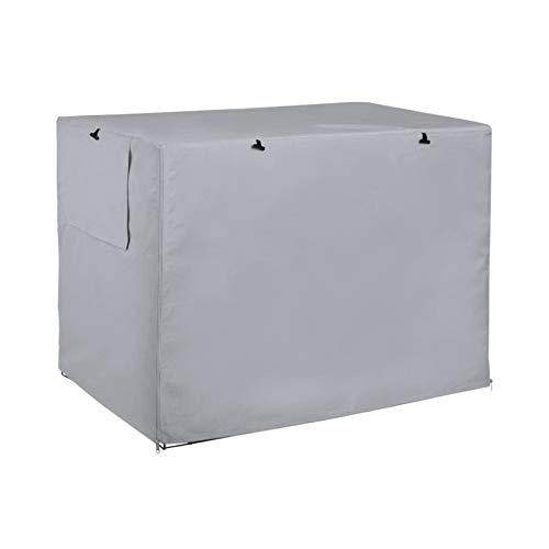 Uranbee - Funda para jaula de perro, funda de caseta para mascotas, duradera y cortavientos, para jaula metálica interior y exterior (L: 109 x 74 x 76 cm), color gris