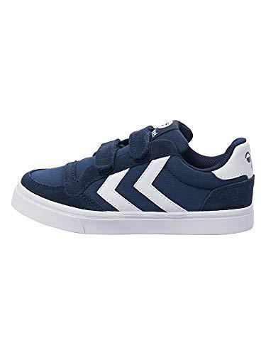 hummel Unisex Kinder Stadil Canvas Mono Low JR Sneaker, Blau (Dress Blue), 34 EU