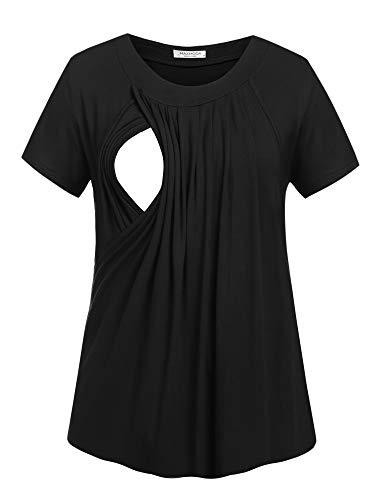 Unibelle Damska koszulka ciążowa top do karmienia warstwowa warstwa owijana