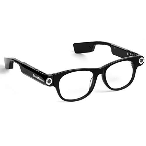 ZC Dawn Kamera Brille 1080P im Freien Mini HD-Videobrille, Bluetooth Smart Brille freihändige Anruf 1080P-Kamera Video-Sonnenbrille,Clear