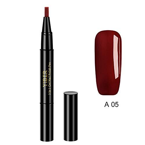 Ingeniously Nail Art Stifte, für 3D Nail Art DIY Dekoration Nagellack Pen Set 8ML Nail Art Lackstift Polieren Sie den UV UV Gel Lack Maniküre Dekoration Zubehör ab