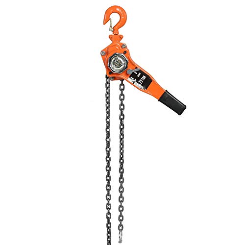 Chain Block, Lifting Height 3 Meters / 9.84ft Pulley Lifting G80 Galvanized Manganese Steel for Manual Block Lift for Pulley Hoist for Pulley Lifting