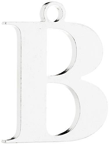 tradeNX Schlüsselanhänger Buchstabe B – Hochwertiger Anhänger aus Edelstahl für den Schlüsselbund – ca. 3 cm
