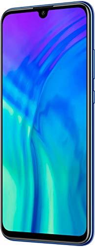Honor 20 Lite 128 GB Smartphone BUNDLE mit 32MP AI Selfie Kamera (6,21 Zoll), AI Triple Kamera, Dual-SIM, Android 9.0) Phantom Blue + gratis Flip Cover [Exklusiv bei Amazon] - Deutsche Version - 2