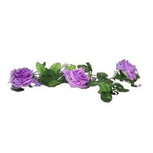 Artificial Silk Flowers 5′ Lavender Lilac Rose Garland Wedding Arch Vines Fake #AFFTM