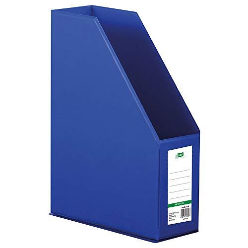 D.RECT Organizador de plástico, revistero   PVC, A4, 90mm   separadores de archivos   color azul