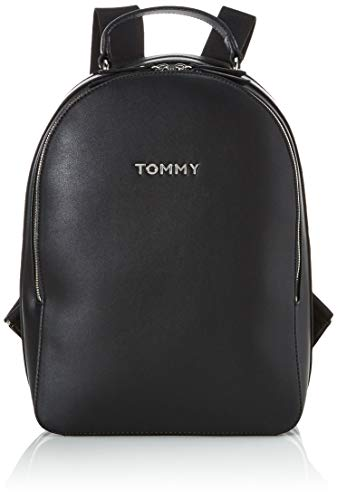 Tommy Hilfiger Tommy Staple Dome Backpack, Zaino Donna, Nero (Black), 1x1x1 Centimeters (W x H x L)