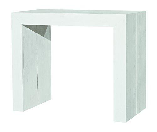Fashion Commerce FC669 Consolle Allungabile, Legno Nobilitato, Bianco, 90x45x75 cm