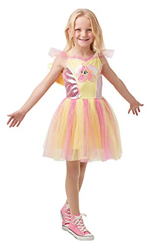 Rubies 640916S Disfraz oficial de Fluttershy My Little Pony de lujo de dibujos animados, para nias, pequeo (edad 3-4 aos)