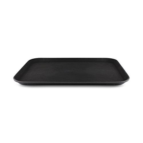 Tuffgrip Bandeja plástico y goma antideslizante, plástico, negro, 22x16/55x40cm