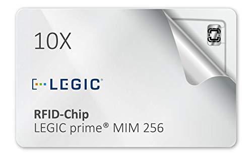 10 Stück - Legic Prime MIM 256 RFID Karten blanko weiß