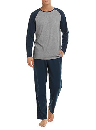 DAVID ARCHY Mens Cotton Short Henley Sleepwear Classic Button-Down Pajamas Set