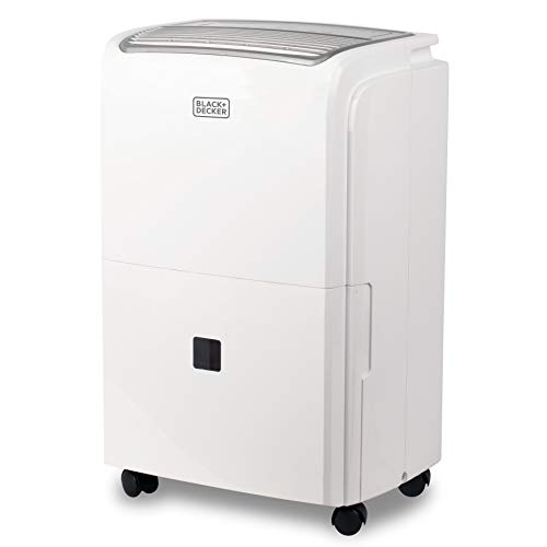 BLACK+DECKER BDT50PWTB Dehumidifier with Built-in Pump, 50 Pints w, White