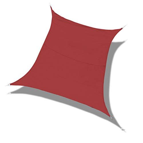 Laxllent Toldo Vela de Sombra,Protección Rayos UV,Impermeable y Resistente,Toldo para Jardín Balcón Terraza Coche y BBQ,con Cuerda Libre,PES,Rectangular,3x4m,Terracotta
