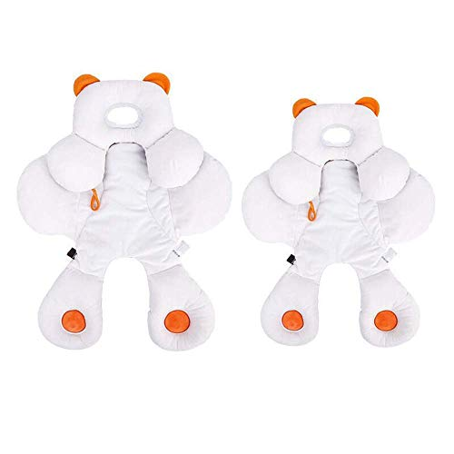 YIWOYI Almohada para niños pequeños, soporte para la cabeza de bebé, soporte para el cuerpo, asiento para correr, cojín para cochecitos, cojín suave para dormir (grande)